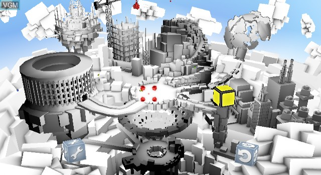 Menu screen of the game Rubik's Puzzle World on Nintendo Wii