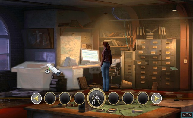 Menu screen of the game Secret Files - Tunguska on Nintendo Wii