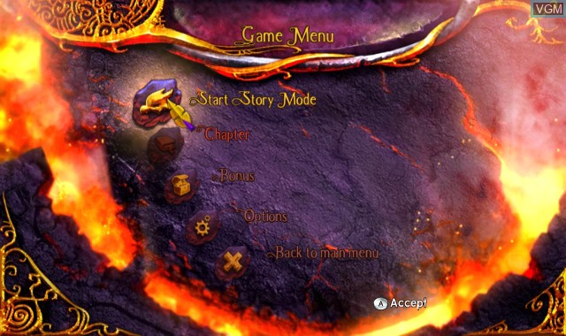 Menu screen of the game Legend of Spyro, The - Dawn of the Dragon on Nintendo Wii