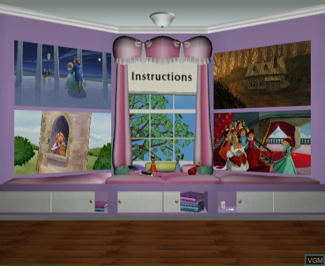 Menu screen of the game Story Hour - Adventures on Nintendo Wii