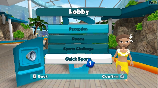 Menu screen of the game World Sports Party on Nintendo Wii