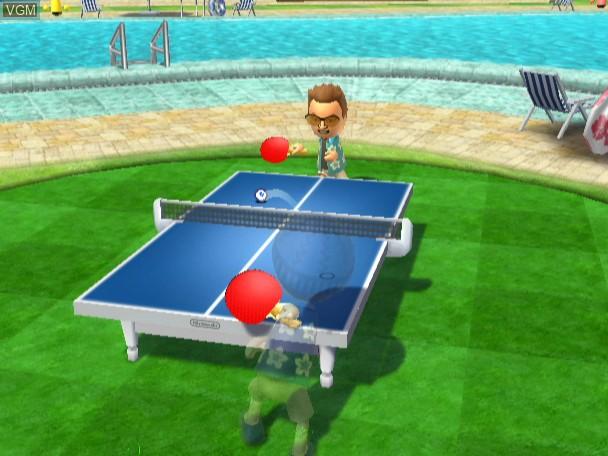 Menu screen of the game Wii Sports Resort on Nintendo Wii