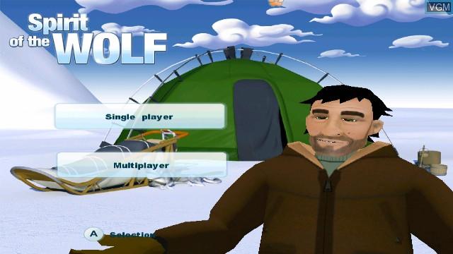 Menu screen of the game L'esprit du Loup on Nintendo Wii