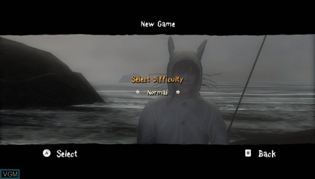 Menu screen of the game Where the Wild Things Are - The Videogame on Nintendo Wii