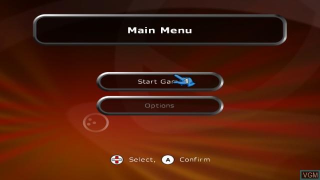Menu screen of the game Alan Hansen's Sports Challenge on Nintendo Wii