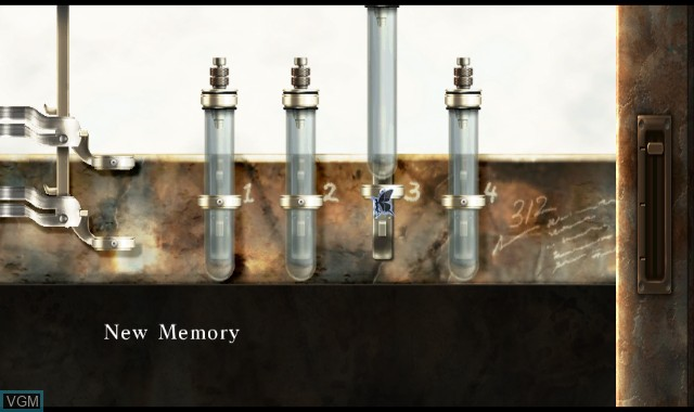 Menu screen of the game A Shadow's Tale on Nintendo Wii