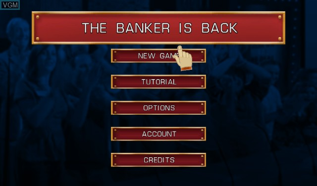 Menu screen of the game Deal or No Deal - The Banker Is Back on Nintendo Wii