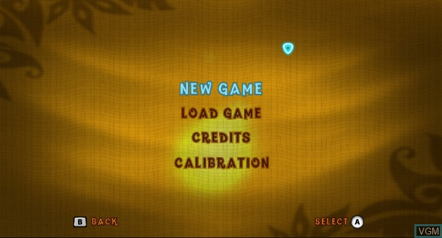 Menu screen of the game Crash of the Titans on Nintendo Wii