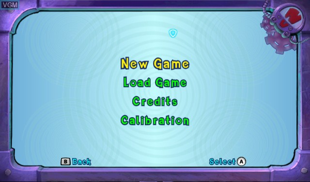 Menu screen of the game Crash - Mind Over Mutant on Nintendo Wii