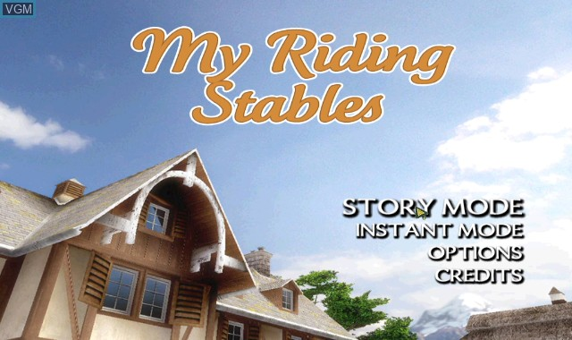 Menu screen of the game 2-in-1 - Pony Friends 2 + My Riding Stables - Life with Horses on Nintendo Wii