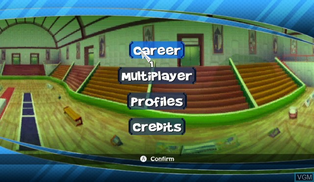 Menu screen of the game 101-in-1 Sports Party Megamix on Nintendo Wii
