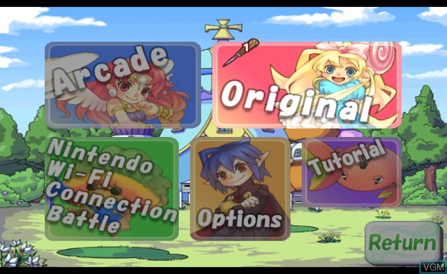 Menu screen of the game Octomania on Nintendo Wii