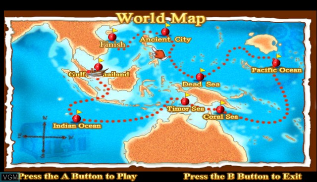 Menu screen of the game Offshore Tycoon on Nintendo Wii