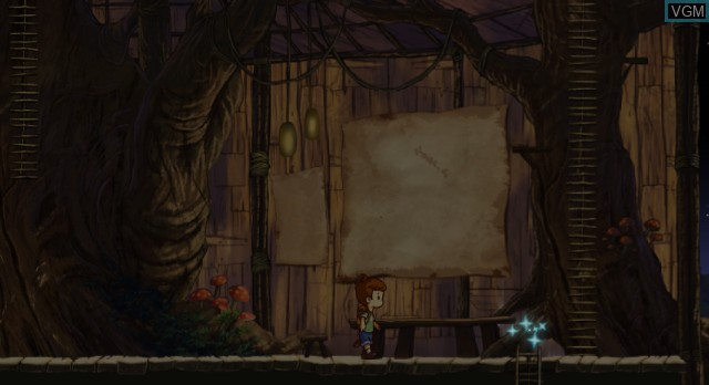 Menu screen of the game A Boy and His Blob on Nintendo Wii