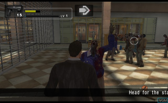 In-game screen of the game Dead Rising - Chop Till You Drop on Nintendo Wii