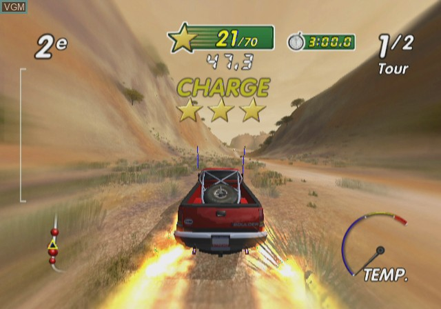 In-game screen of the game Excite Truck on Nintendo Wii