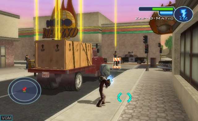 In-game screen of the game Destroy All Humans! Big Willy Unleashed on Nintendo Wii