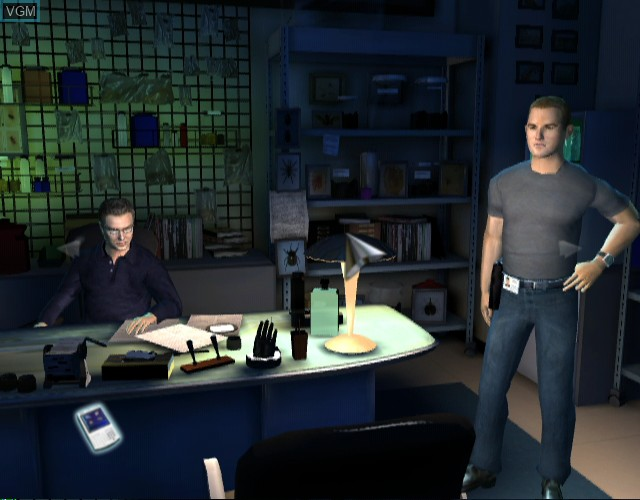 In-game screen of the game CSI - Crime Scene Investigation - Hard Evidence on Nintendo Wii