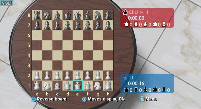In-game screen of the game Wii Chess on Nintendo Wii