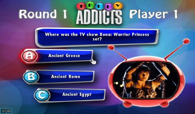 In-game screen of the game Telly Addicts on Nintendo Wii