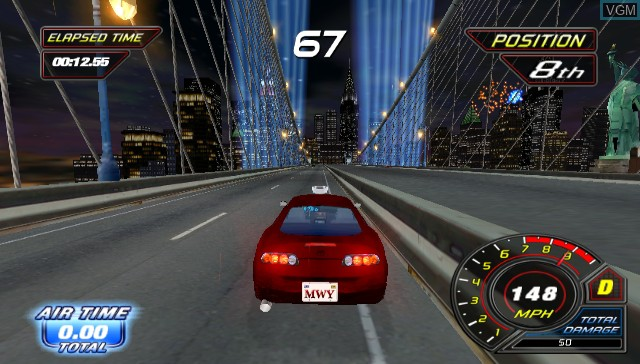 In-game screen of the game Cruis'n on Nintendo Wii
