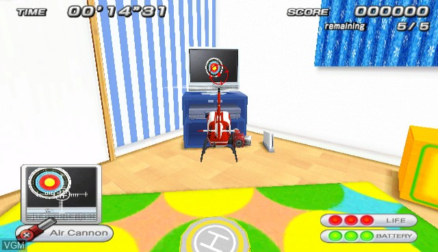 In-game screen of the game Radio Helicopter on Nintendo Wii