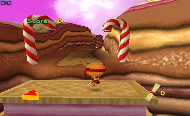 In-game screen of the game Ninjabread Man on Nintendo Wii