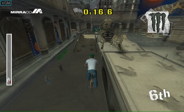 In-game screen of the game Dave Mirra BMX Challenge on Nintendo Wii