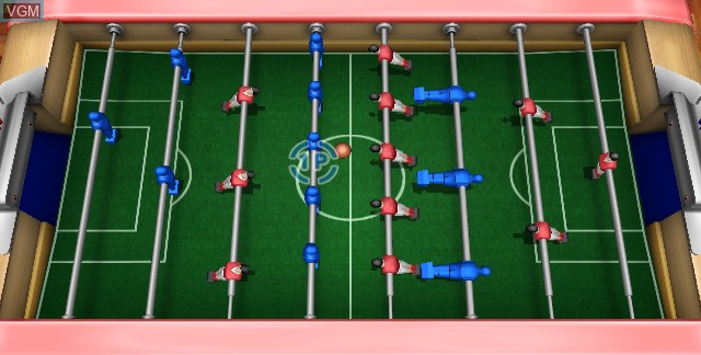 In-game screen of the game Table Football on Nintendo Wii