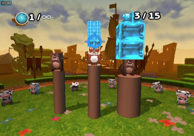 In-game screen of the game Boom Blox - Bash Party on Nintendo Wii