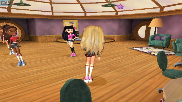 In-game screen of the game Bratz - Girlz Really Rock on Nintendo Wii