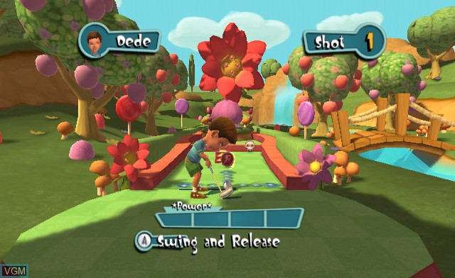 In-game screen of the game Carnival Games - Mini-Golf on Nintendo Wii