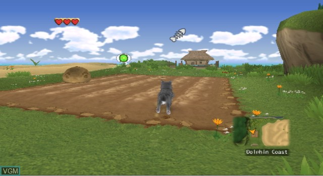 In-game screen of the game Catz on Nintendo Wii