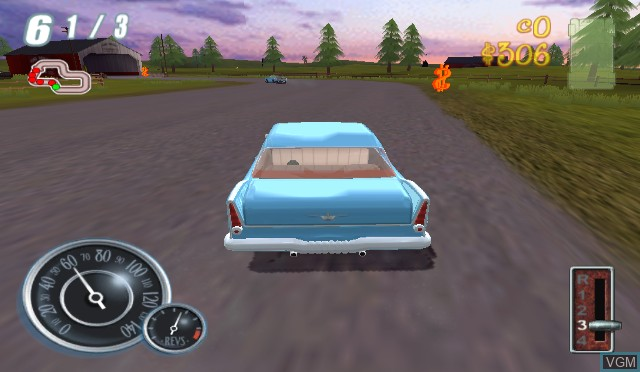 In-game screen of the game Chrysler Classic Racing on Nintendo Wii