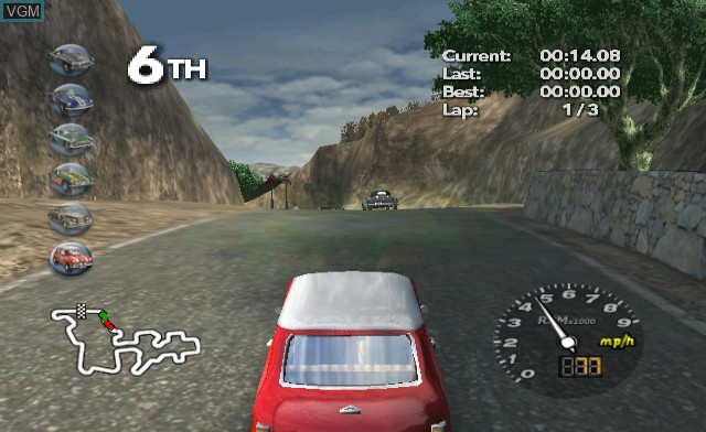 In-game screen of the game Classic British Motor Racing on Nintendo Wii