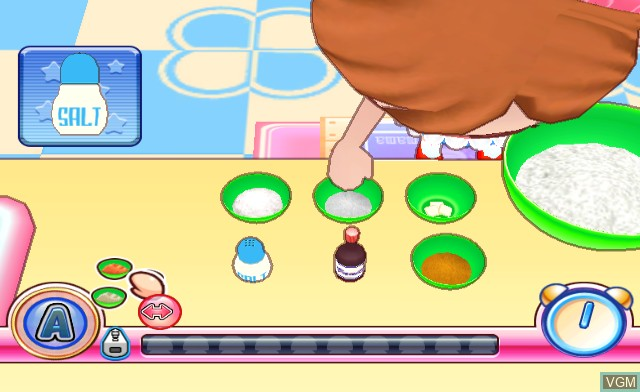 In-game screen of the game Cooking Mama 2 - World Kitchen on Nintendo Wii