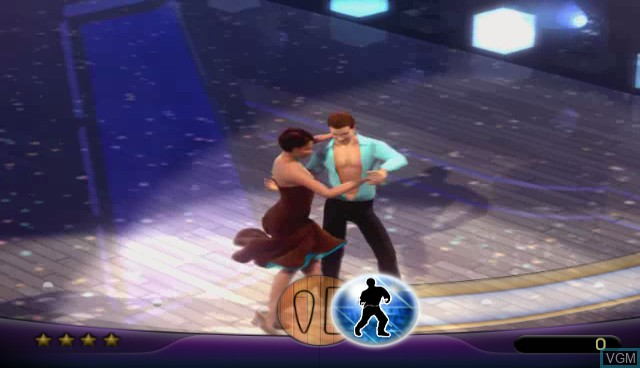 In-game screen of the game Dancing with the Stars on Nintendo Wii