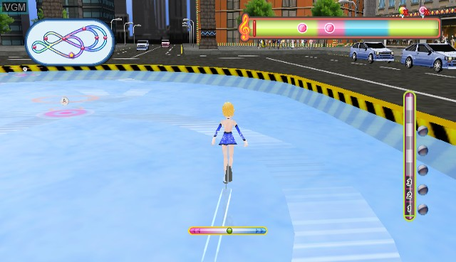 In-game screen of the game Diva Girls - Princess on Ice on Nintendo Wii