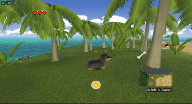 In-game screen of the game Dogz on Nintendo Wii