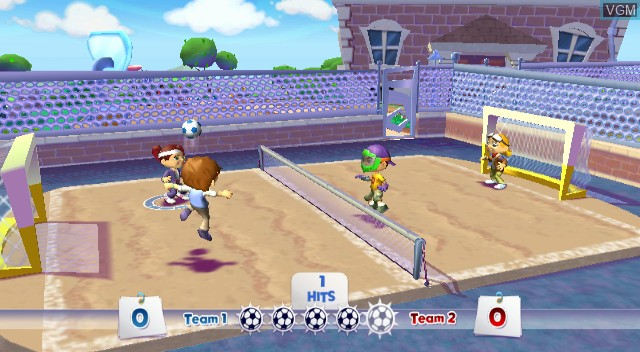 In-game screen of the game EA Playground on Nintendo Wii