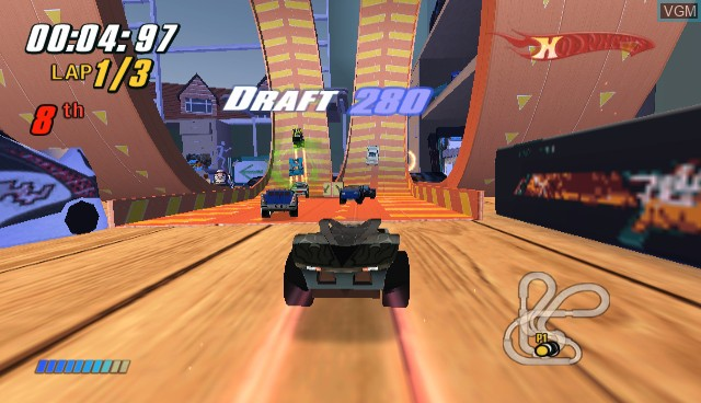 In-game screen of the game Hot Wheels - Beat That on Nintendo Wii