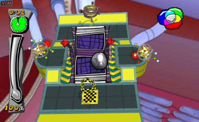 In-game screen of the game Mercury Meltdown Revolution on Nintendo Wii