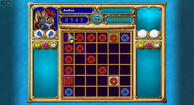 In-game screen of the game Neopets Puzzle Adventure on Nintendo Wii