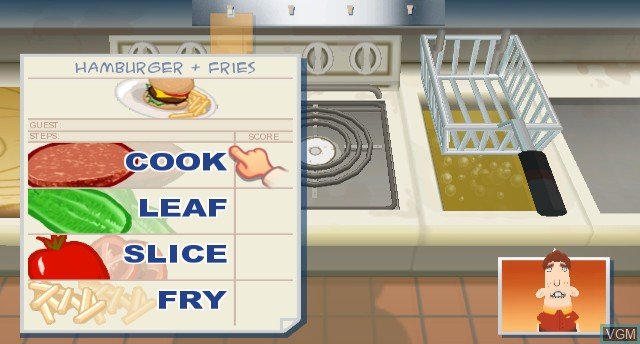 In-game screen of the game Order Up! on Nintendo Wii