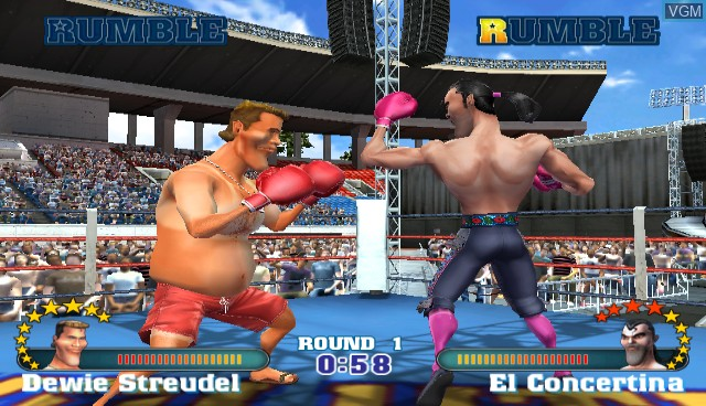 In-game screen of the game Ready 2 Rumble Revolution on Nintendo Wii