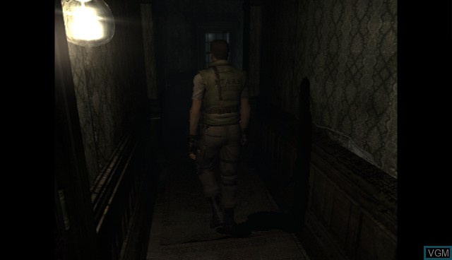 In-game screen of the game Resident Evil Archives - Resident Evil on Nintendo Wii