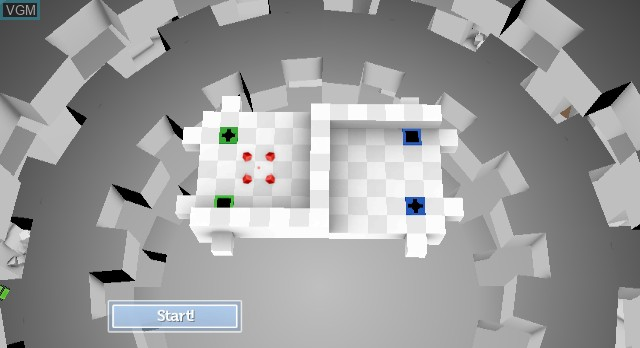 In-game screen of the game Rubik's Puzzle World on Nintendo Wii