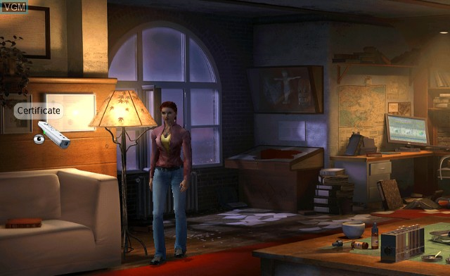 In-game screen of the game Secret Files - Tunguska on Nintendo Wii