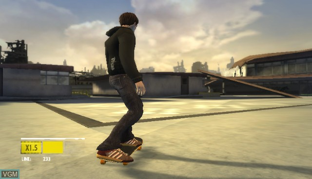 In-game screen of the game Skate It on Nintendo Wii