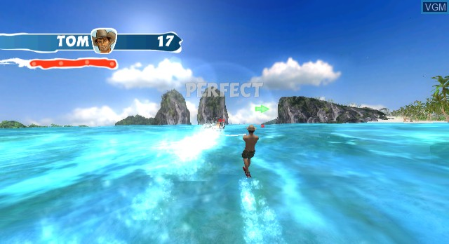 In-game screen of the game Beach Fun Summer Challenge on Nintendo Wii